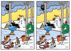 Zoek de 10 verschillen | Winter