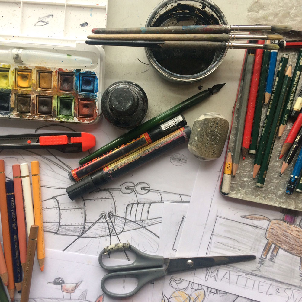 schets+materiaal